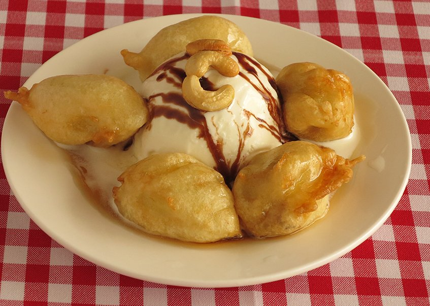 Hakka Spice Chinese Restaurant - Fried Banana Ice Cream
